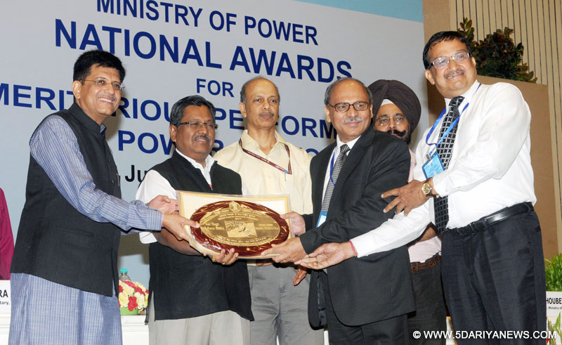 Piyush Goyal presented the National Awards for Meritorious Performance in Power Sector, in New Delhi on June 03, 2015.
