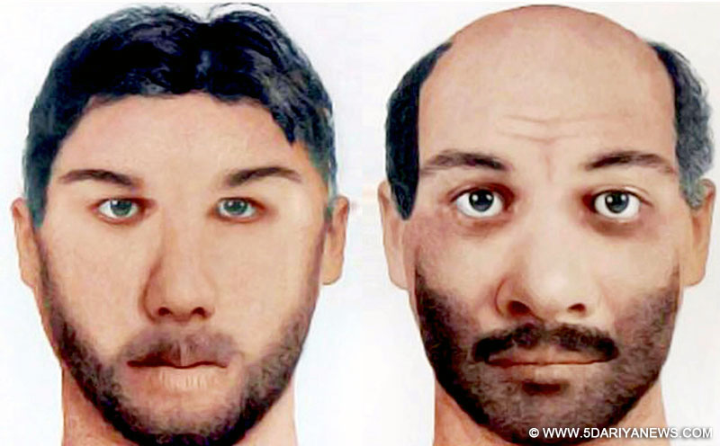 Combo Pictures of Udhampur terrorist attack suspects Zargham alias Mohammadd Bhai (R) and Abu Okasha (L), the residents of Hazara Khyber, Pakhtunkhwa in Pakistan. The pictures were released by NIA.