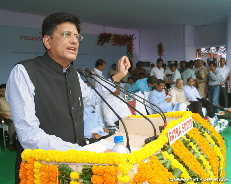 Piyush Goyal reviews Coal, Power, New and Renewable Energy Sector Development in Odisha