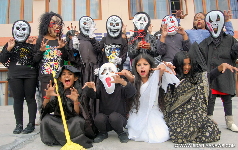 Ashmah International School celebrated Halloween in Indian style