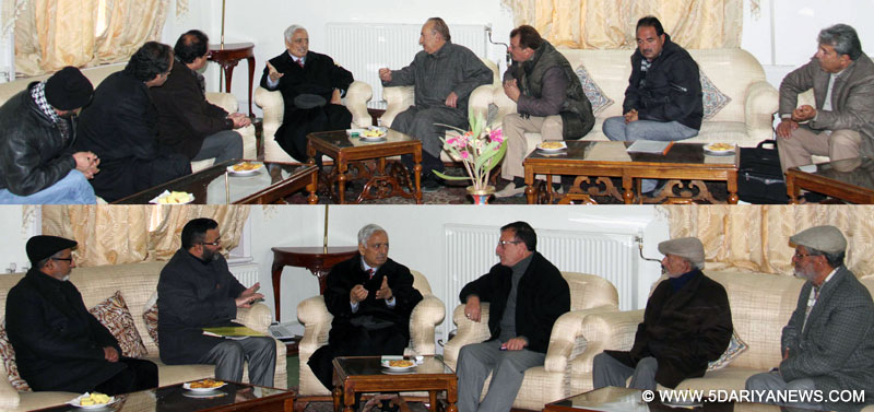 Deputations call on CM, Have to nurture institutions of Performing Arts, says Mufti