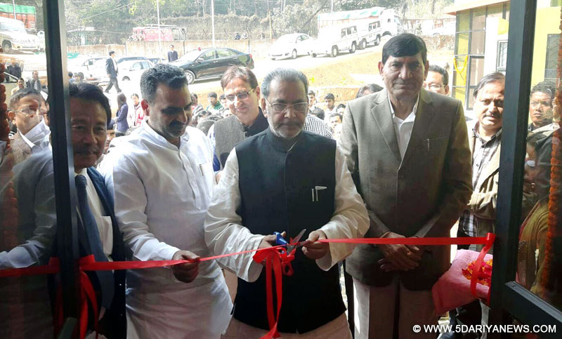The Union Minister for Agriculture and Farmers Welfare, Shri Radha Mohan Singh inaugurating the New Academic Block at College of Post-Graduate Studies, at Umiam (Barapani) Meghalaya, on February 15, 2016. The Ministers of State for Agriculture and Farmers Welfare, Dr. Sanjeev Kumar Balyan and Shri Mohanbhai Kalyanjibhai Kundariya are also seen.