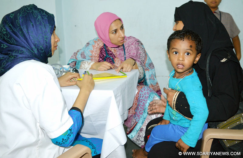 2300 patients examined by US doctors in 4 day free health camp in slum areas of Hyderabad