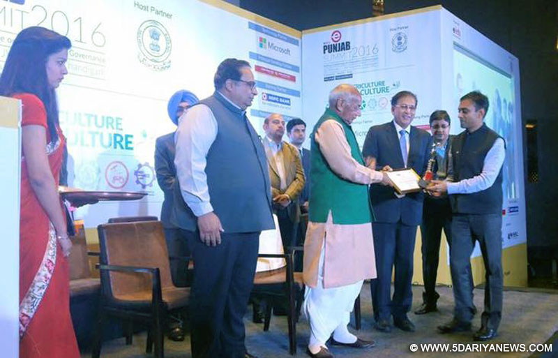 Punjab Earn Accolades Best Implementation Of E- Governance And M–Governance