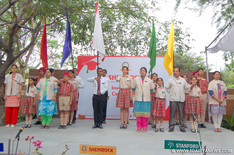 Deserving young talents bestowed with the responsibility on Investiture ceremony at Shemrock Sen Sec. School
