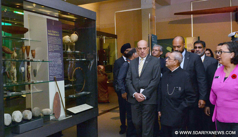 The President, Shri Pranab Mukherjee visiting the Auckland War Memorial Museum, at Auckland, in New Zealand on May 01, 2016.