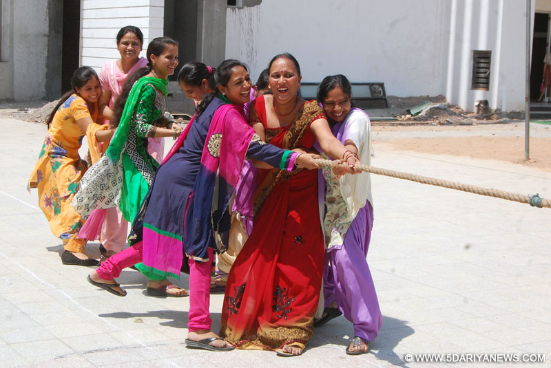 Shemrock School arranged fun games on Labour Day for class D staff members