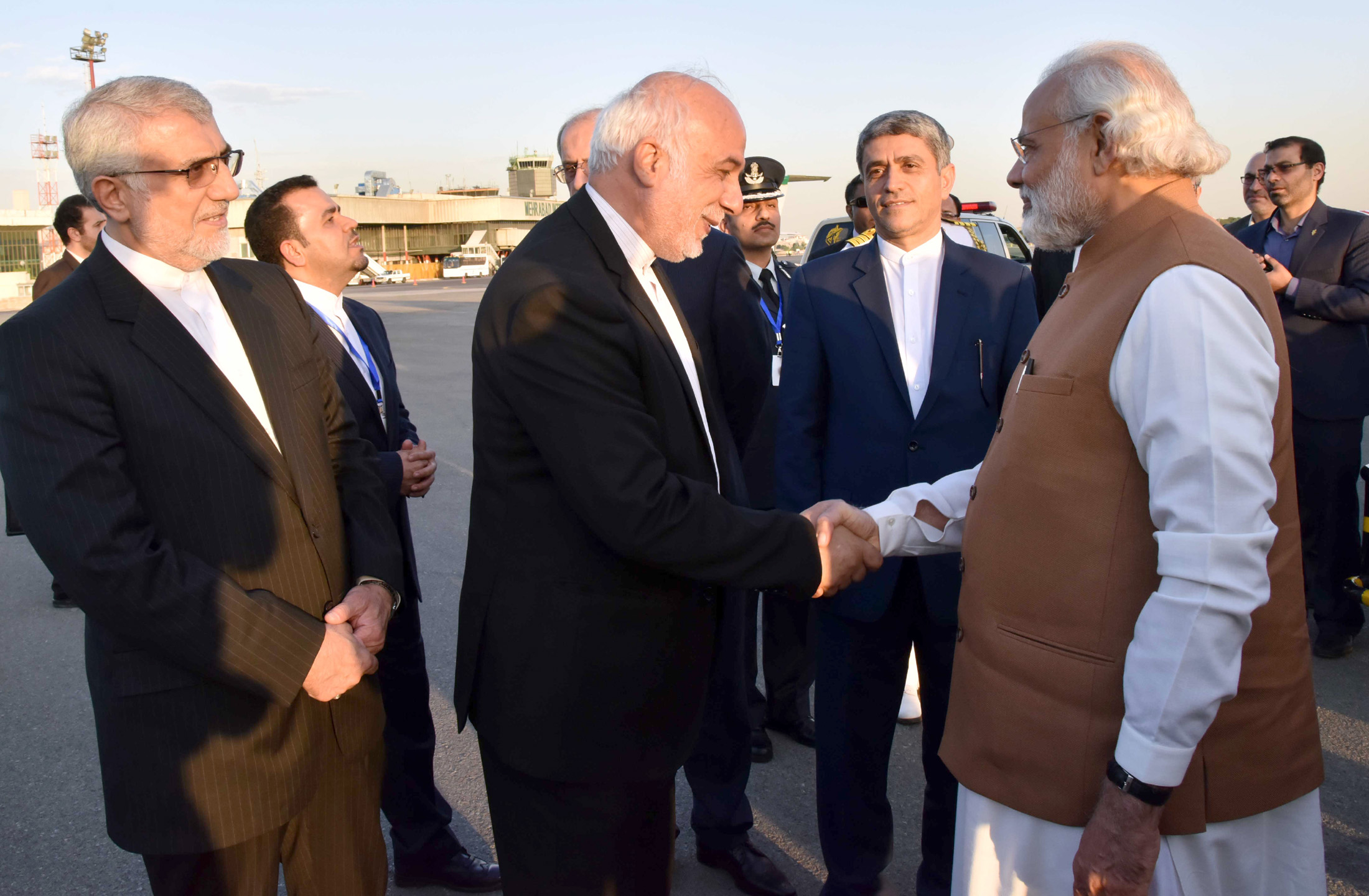 The Prime Minister, Shri Narendra Modi with the President of Iran, Mr. Hassan Rouhani and the President of Afghanistan, Dr. Mohammad Ashraf Ghani, during the Trilateral meeting, in Tehran on May 23, 2016.
