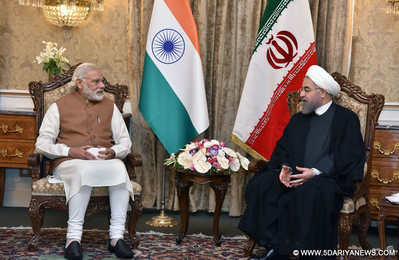 The Prime Minister, Shri Narendra Modi in restricted tete-a-tete with the President of Iran, Mr. Hassan Rouhani, in Jomhouri Building, at Saadabad Palace, in Tehran on May 23, 2016.