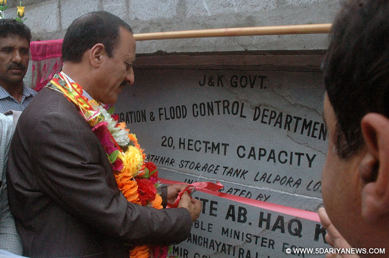 Abdul Haq Khan inaugurates irrigation Dam in Lolab, Will irrigate 7000 Kanal agricultural land