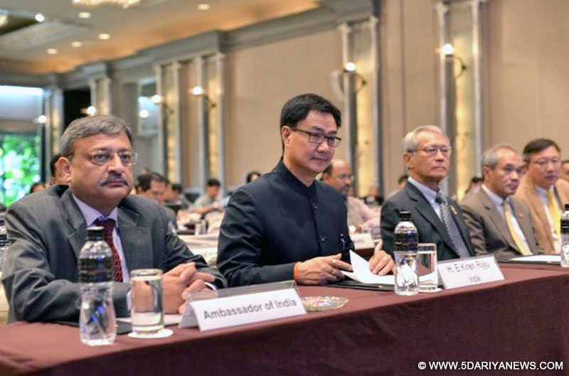 The Minister of State for Home Affairs, Shri Kiren Rijiju attending the First Asian Science and Technology Conference for Disaster Risk Reduction, at Bangkok, in Thailand on August 24, 2016.
