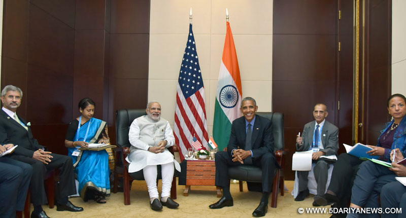 The Prime Minister, Shri Narendra Modi meeting the President of United States of America (USA), Mr. Barack Obama, on the sidelines of the 11th East Asia Summit, at Vientiane, Lao PDR on September 08, 2016.