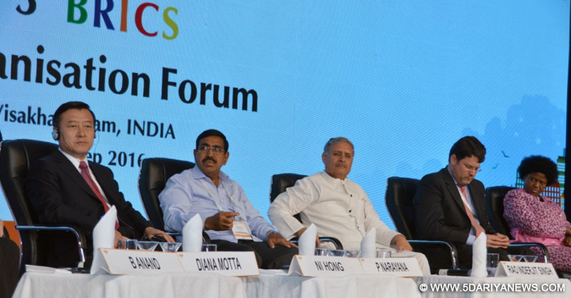The Minister of State for Planning (Independent Charge) and Urban Development, Housing and Urban Poverty Alleviation, Shri Rao Inderjit Singh at the valedictory function of the 3rd BRICS Urbanization Forum, in Visakhapatnam, Andhra Pradesh on September 16, 2016.