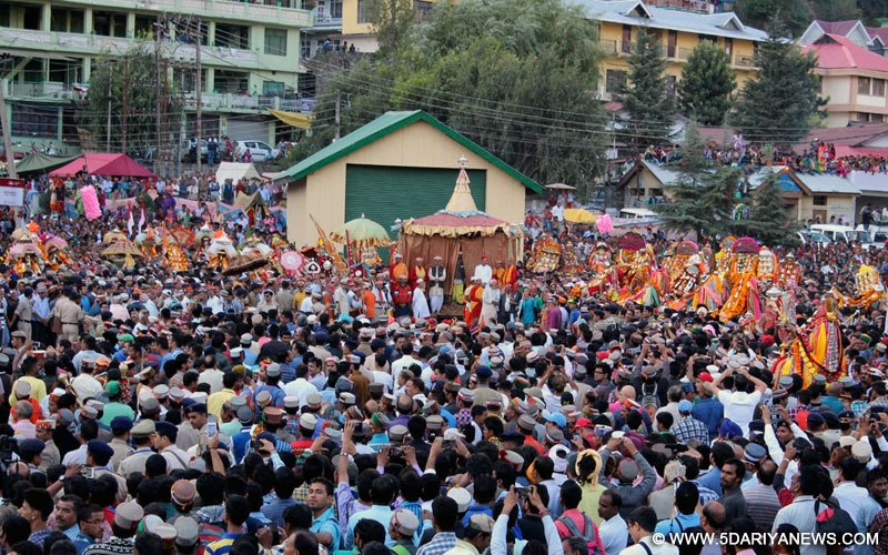 International Kullu Dussehra underway in Kullu on Oct 11, 2016.