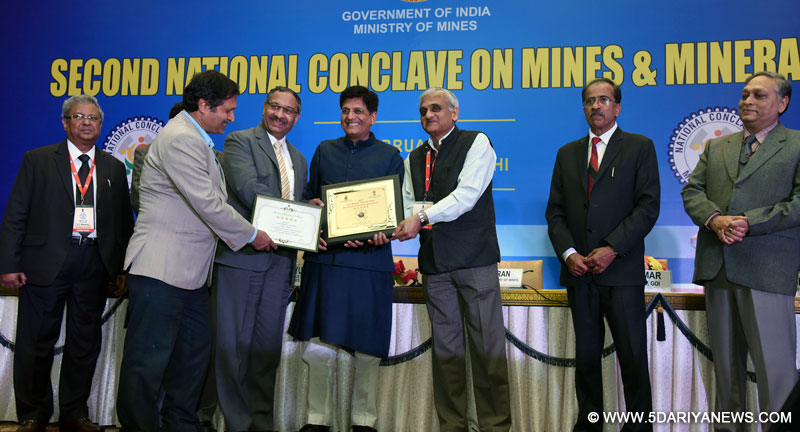 The Minister of State for Power, Coal, New and Renewable Energy and Mines (Independent Charge), Shri Piyush Goyal at the concluding session of the 2nd National Conclave on Mines & Minerals, in New Delhi on February 15, 2017.
