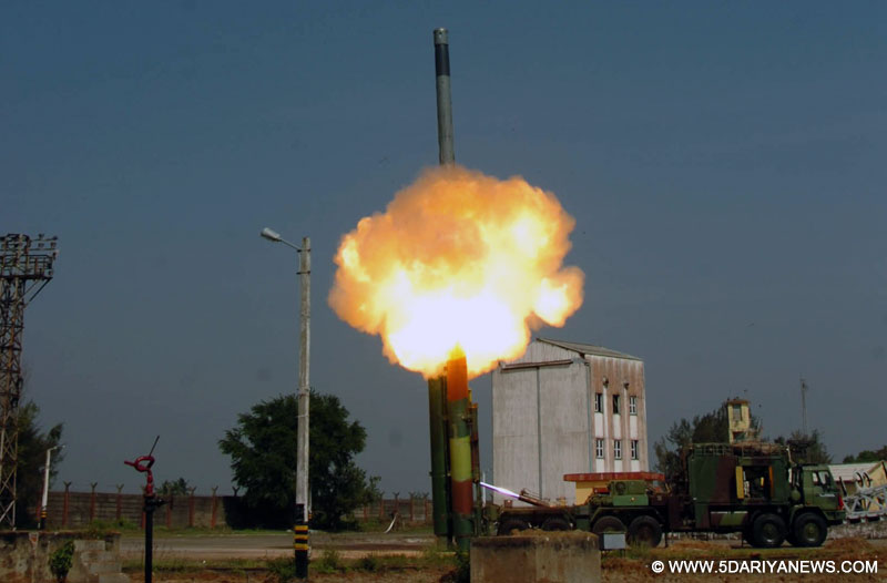 Brahmos missile test fired for an extended range of 450 kms