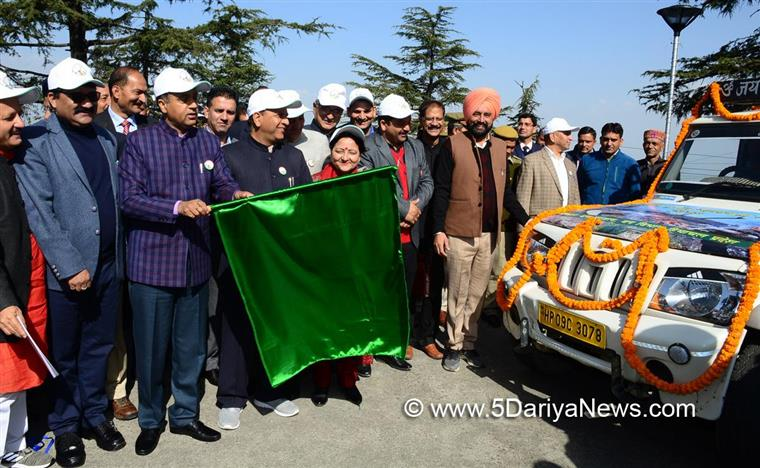 Jai Ram Thakur flags off rapid fire fighting force vehicles to fire sensiti