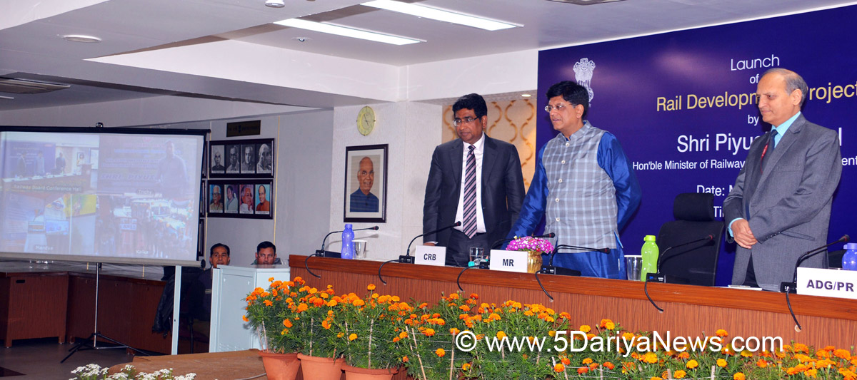 Piyush Goyal launches 3 Projects of Rail Sahyog Supported through CSR