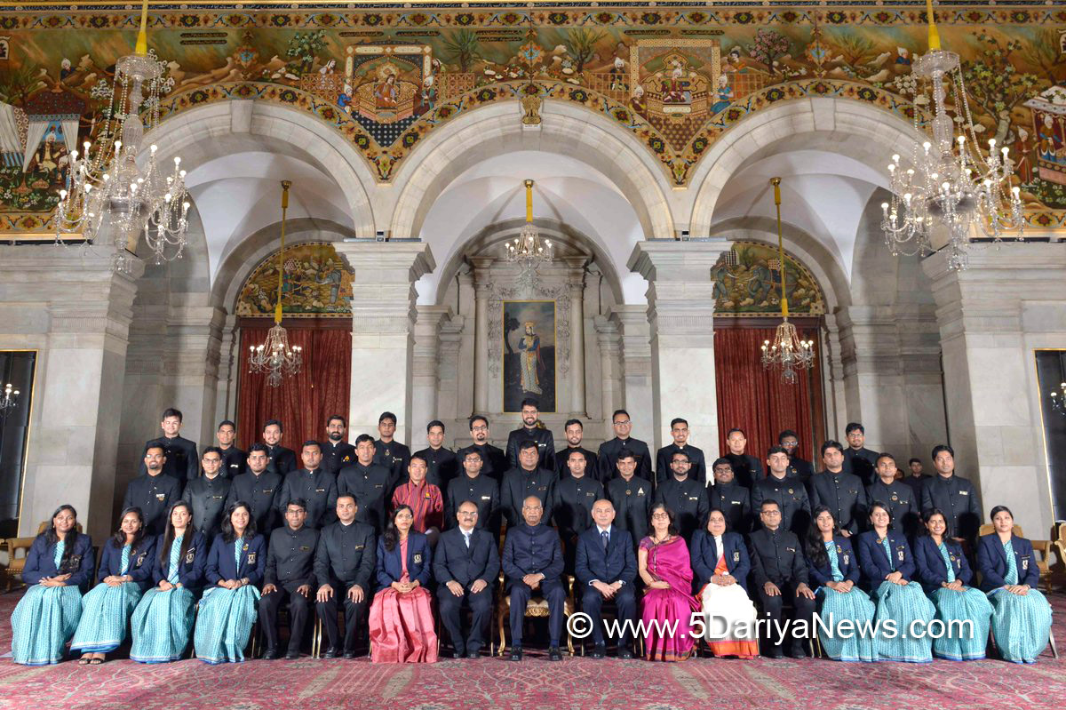 Officer trainees of the Indian Revenue Service call on the President