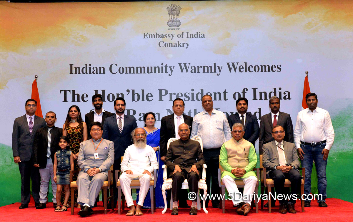 President of India Addresses Indian Community in Guinea on The Concluding Day of his Visit
