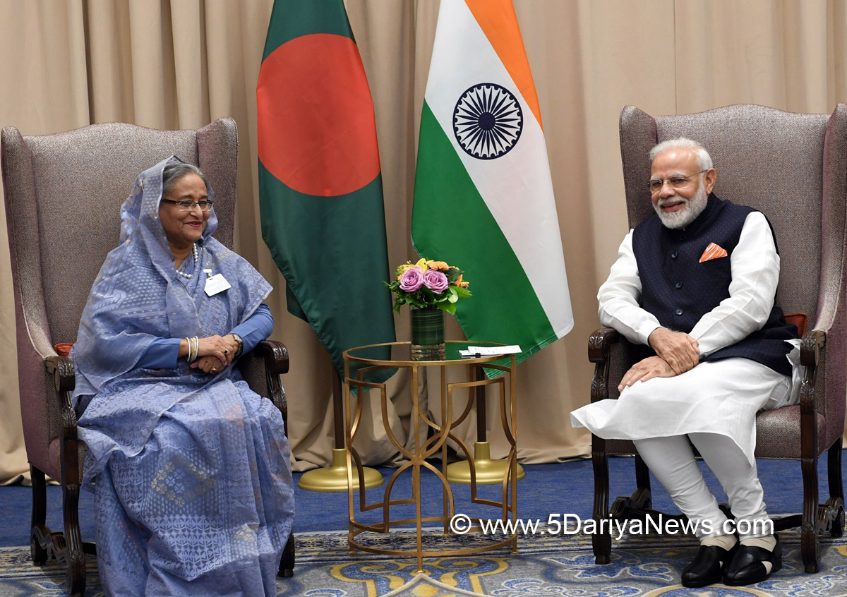 The Prime Minister, Shri Narendra Modi meeting the Prime Minister of Bangladesh, Ms. Sheikh Hasina, in New York, USA on September 27, 2019.
