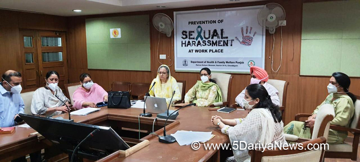Health and Family Welfare Department, Prevention of Sexual Harassment at Workplace, Sexual Harassment at Workplace, Dr. Prof Pam Rajput, Sexual Harassment of Women at Workplace, Dr. G B Singh, Dr. Baljit Kaur, V. V. Giri National Labour Institute Noida