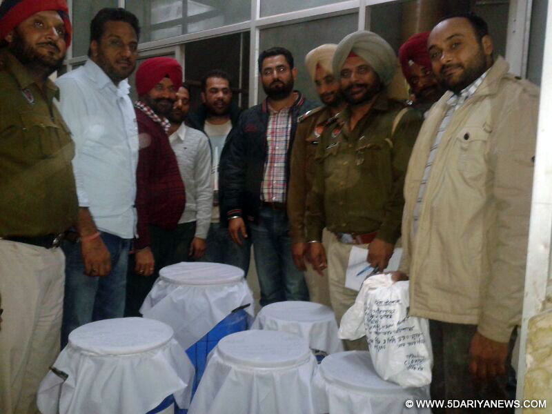The Team of Patiala Police with synthetic drugs recovered from Rakesh Kumar Bansal redley pharmaceutical New Delhi (Narela)