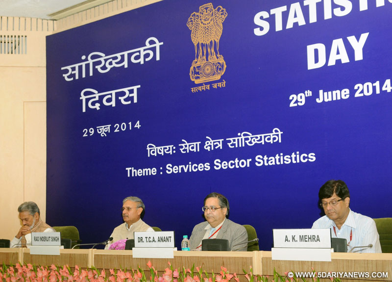 Rao Inderjit Singh at the celebrations of Statistics Day-2014, in New Delhi on June 29, 2014.